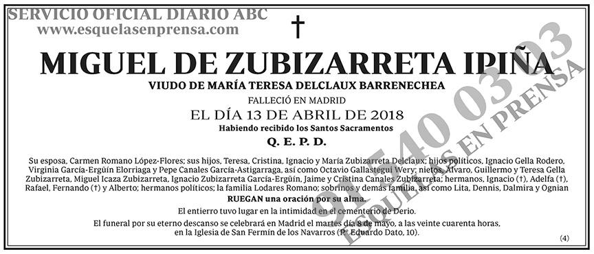 Miguel de Zubizarreta Ipiña